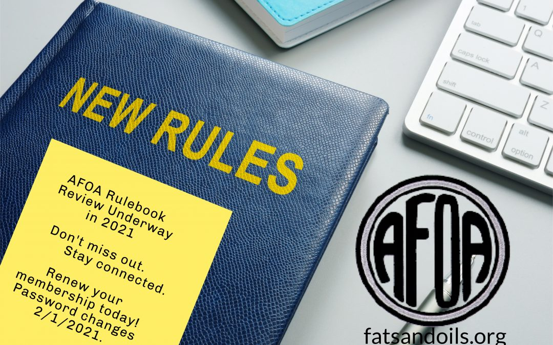 AFOA Rulebook Under Review