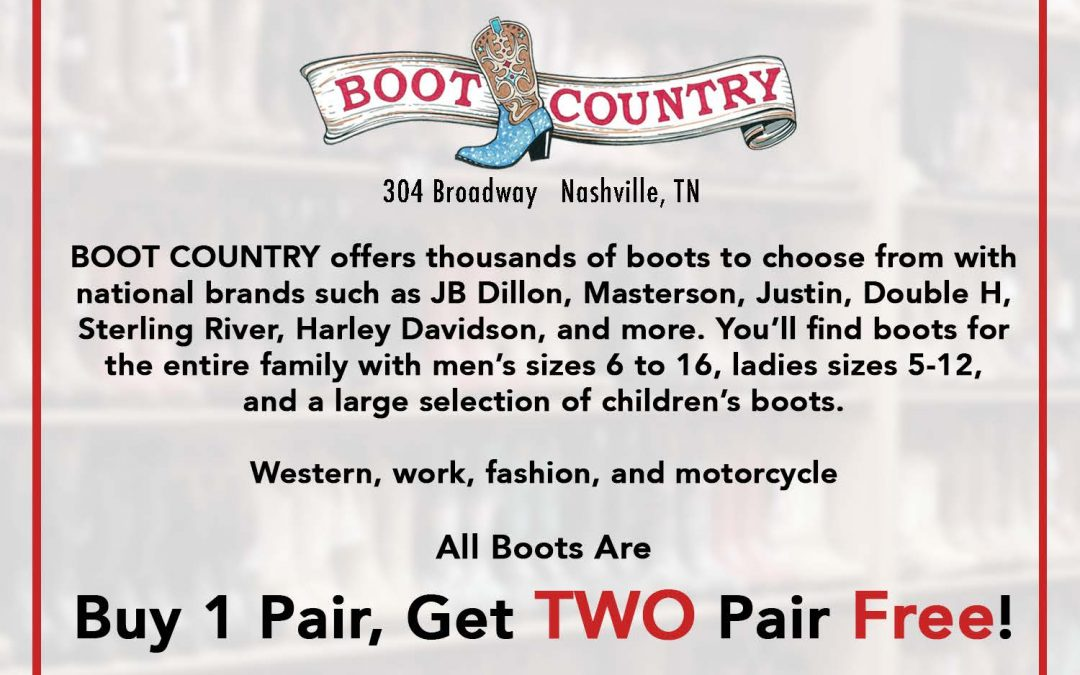 AFOA Event . . . Wednesday, Oct. 13 from 4 – 5 pm at Boot Country
